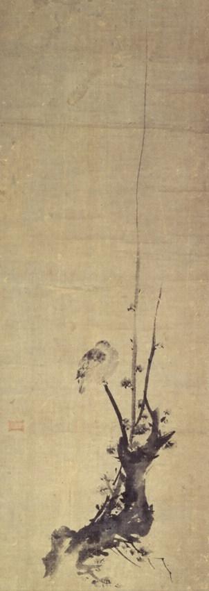 宮本武蔵「紅梅鳩図」