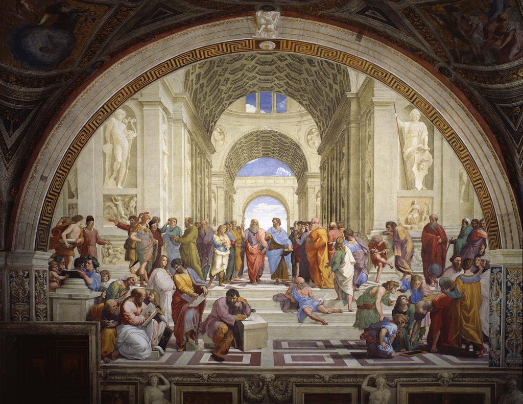 ラファエロ・サンティ「アテナイの学堂」