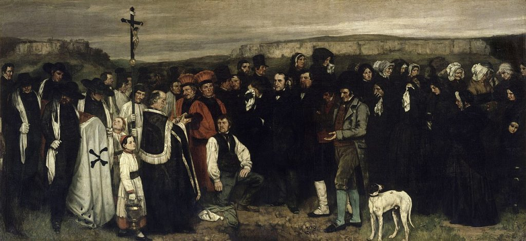 ギュスターヴ・クールベ「オルナンの埋葬」