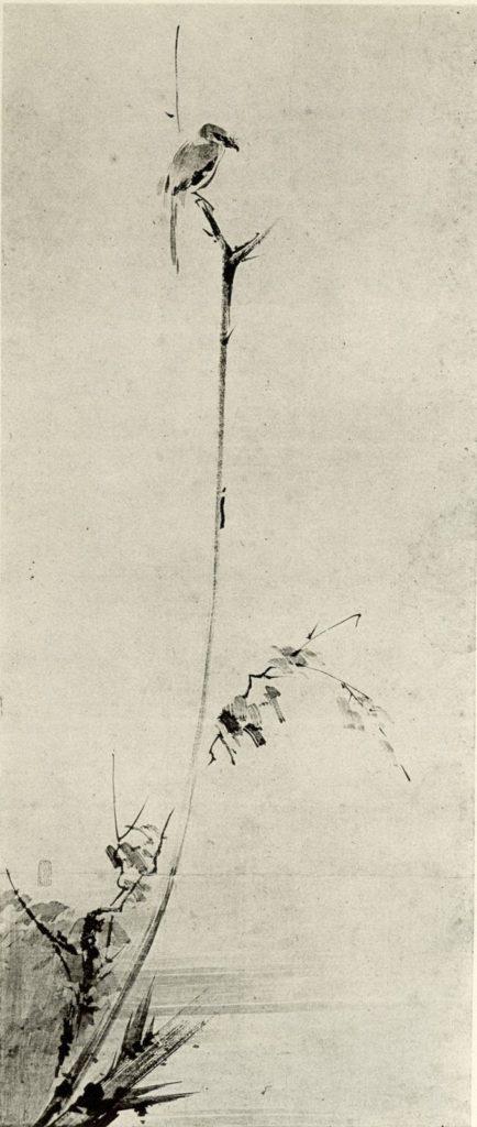 宮本武蔵「枯木鳴鵙図」