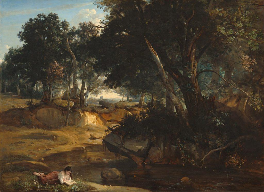 ジャン=バティスト・カミーユ・コロー「フォンテーヌブローの森の眺め」