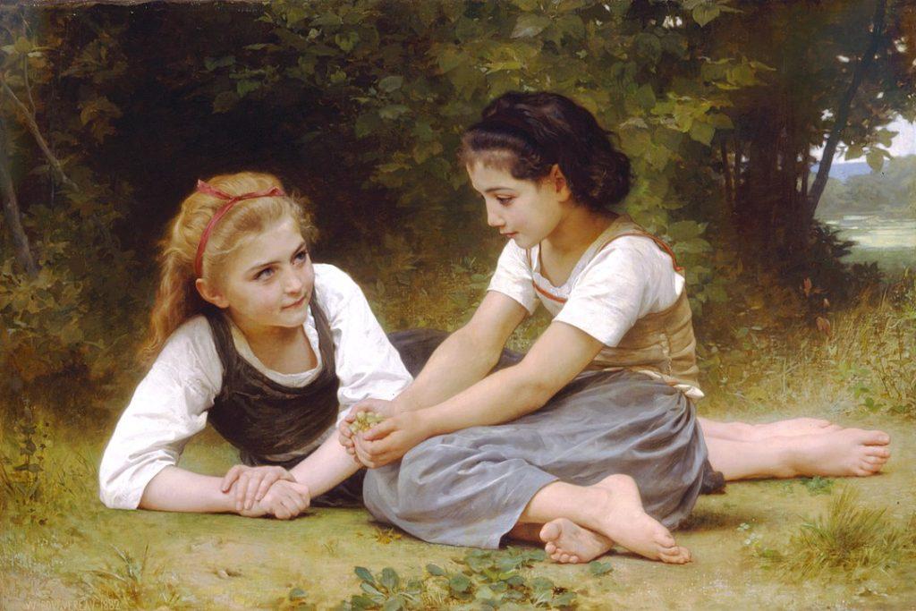 ウィリアム・アドルフ・ブグロー「木の実を集める少女たち」