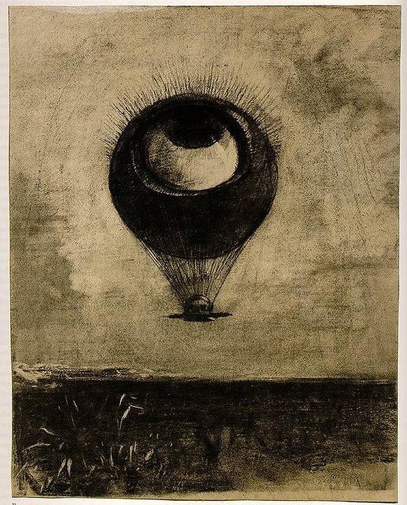 オディロン・ルドン「眼=気球」