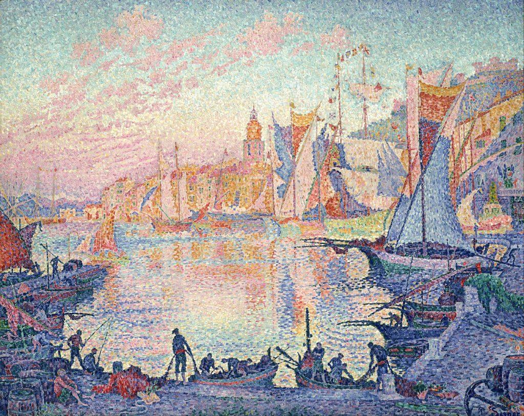 ポール・シニャック「サン=トロペの港」