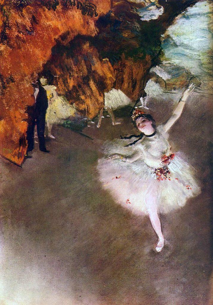 エドガー・ドガ「踊りの花形(エトワール、または、舞台の踊り子)」