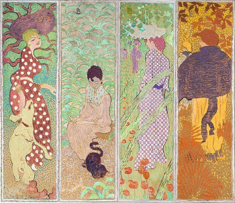 ピエール・ボナール「庭園の女たち」