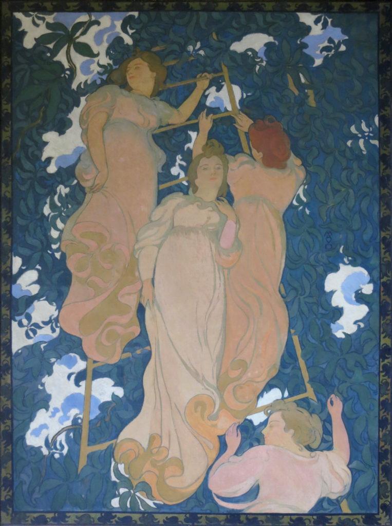 モーリス・ドニ「木の葉に埋もれたはしご」