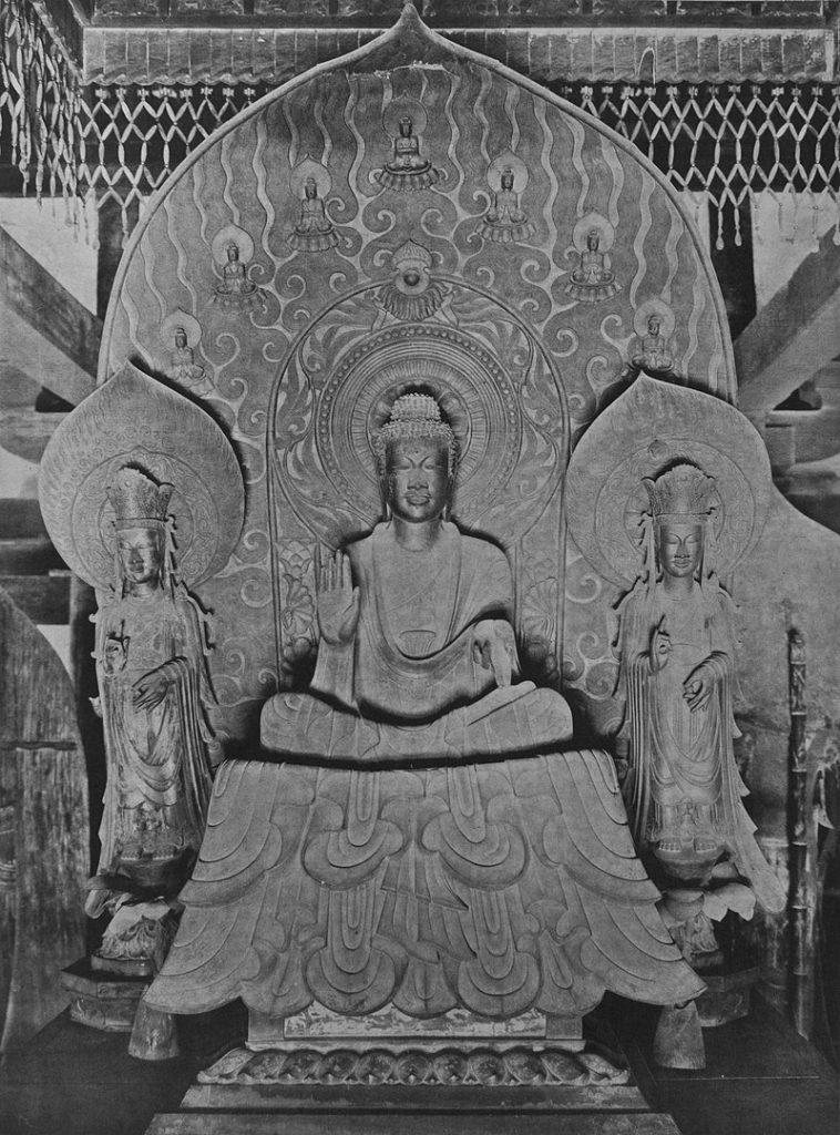 鞍作止利「法隆寺金堂釈迦三尊像」
